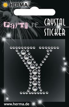 Party Line Crystal Sticker Buchstabe Y