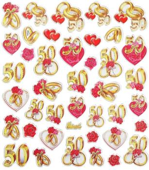 Design Sticker Anniversary 50