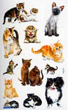 Cats Paper Stickers