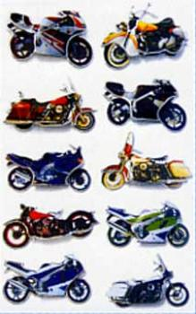 3D effect sticker motorcycle