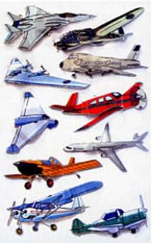 3D effect sticker airplanes