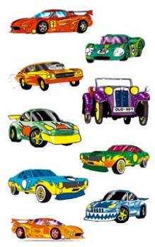 Children Paper Sticker Cars