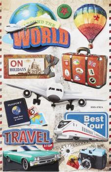 3D Paper Sticker Travel II