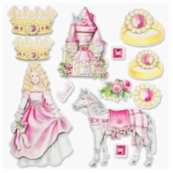 Wall stickers 3D optics XXL-Sticker Princess II