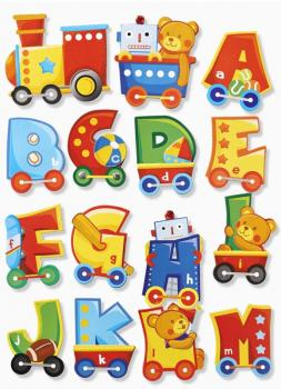 Wall Sticker 3D Sticker XXL Letters, Set of 2