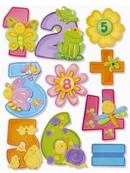 Wall Sticker 3D Sticker XXL Numbers, Set of 2 Special Offer