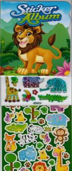 Stickeralbum Set A6 Wildtiere + 120 Sticker