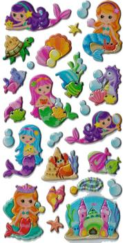 Foam Sticker Mermaid colorful