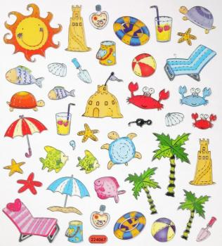 Design Sticker Sommer Urlaub