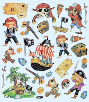 Design Sticker Folie Piraten