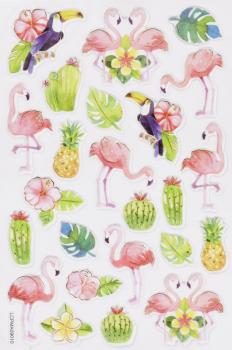 Glossy-Sticker Flamingo