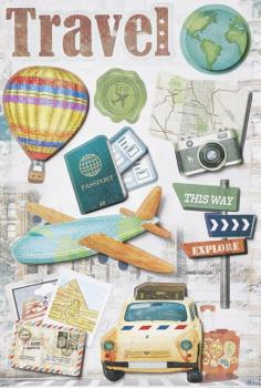 3D Sticker Travel