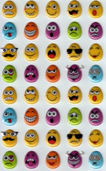 Foam Sticker Egg Mojis