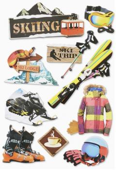3D Sticker Wintersport