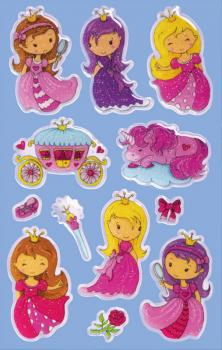 Glossy Stickers Princess 12 Stickers