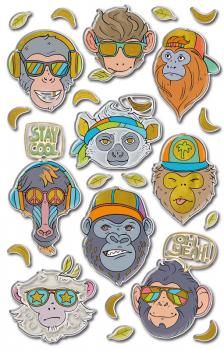 Puffy Sticker Monkey 23 stickers