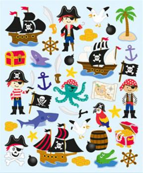 Doublez Stickers Glitter Piraten 75 Sticker