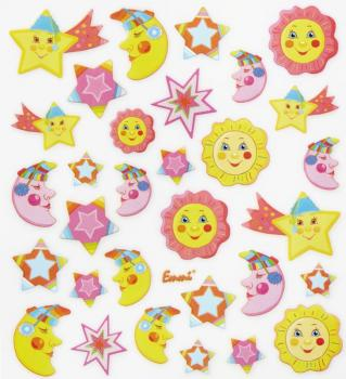Design Sticker Sun Moon Stars