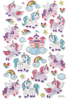 Design Sticker Einhorn bunt
