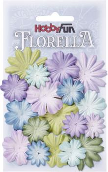 FLORELLA Mulberry paper flowers MIX I 2 - 4 cm