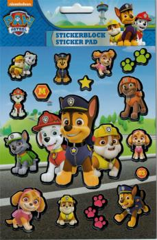 Stickerblock mit Metallic Stickern 8 Blatt Paw Patrol