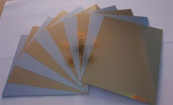 Decoration cardboard Metallic gold silver