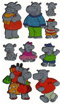 Nilpferd Prismatic-Sticker Hippo