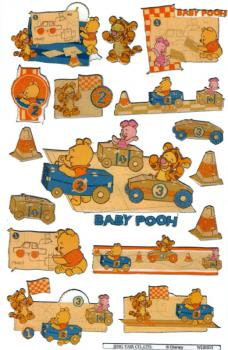 Glossy-Sticker Baby Pooh II
