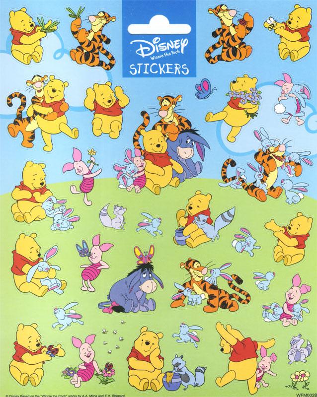 Winnie Pooh + Sticker blau - Sticker, Etiketten u. Aufkleber zum ...