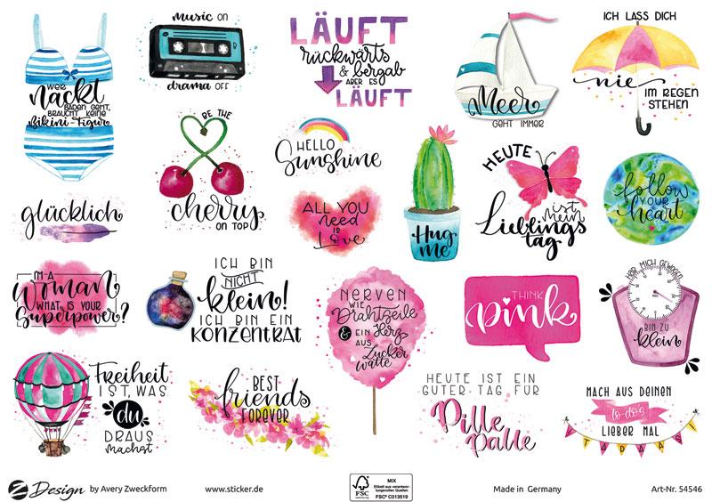 Trend Sticker A5 Lettering Spruche 42 Aufkleber