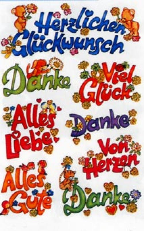 Bären & Text Sticker Glimmer