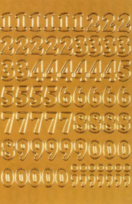 Sticker Zahlen Gold 12 Mm