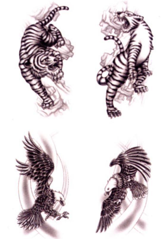 tattoos black art tiger adler. Black Bedroom Furniture Sets. Home Design Ideas