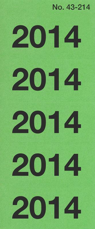 Year dates 2014 green