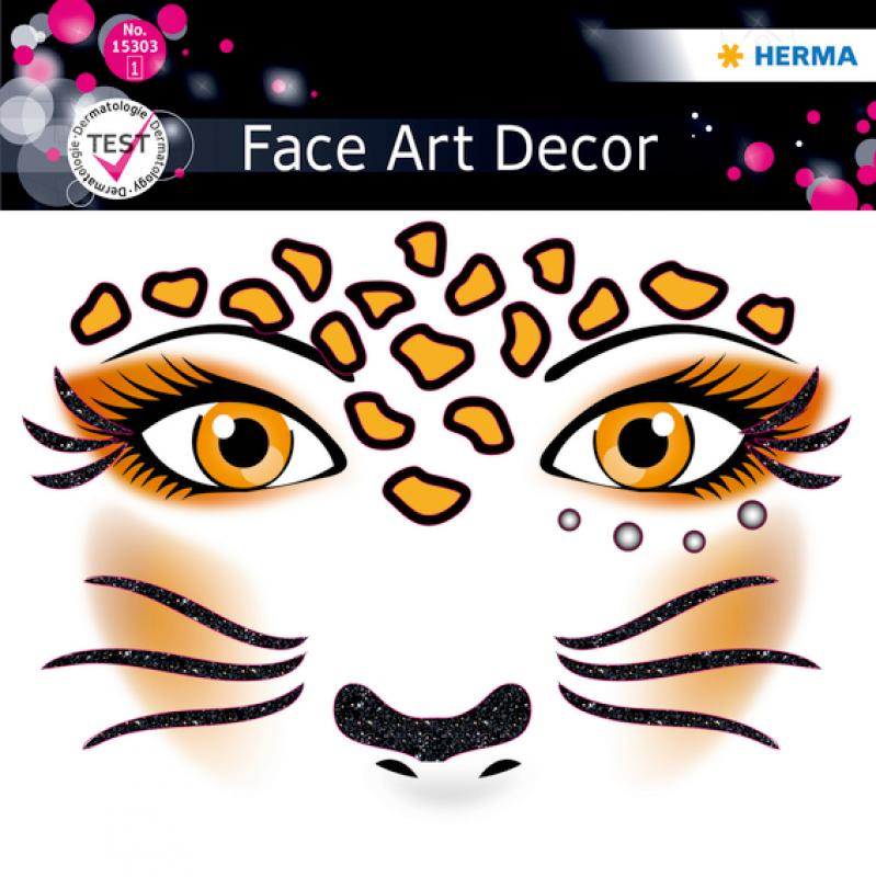 Face Stickers Leopart