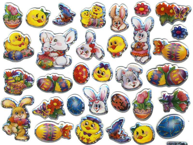 Crystal Sticker Easter glitter effects