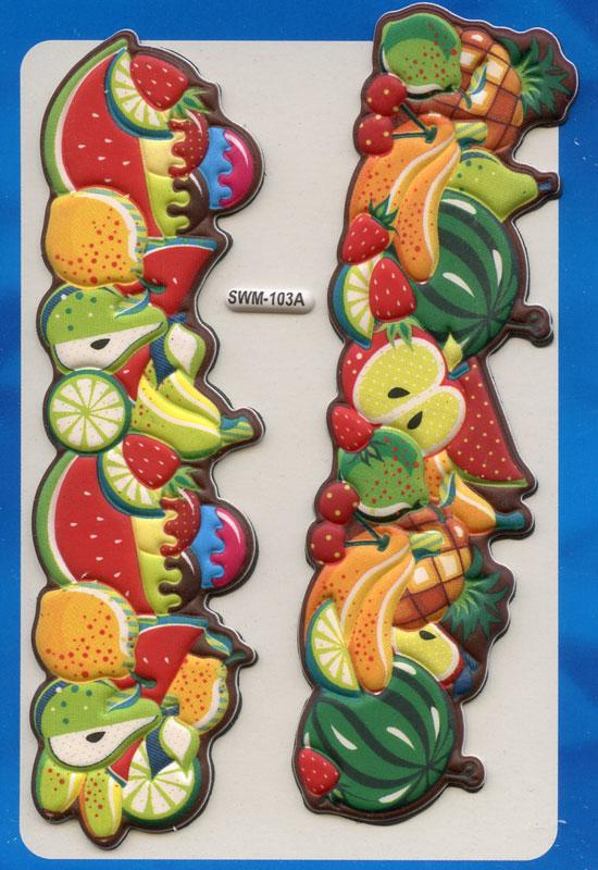 Funny Magnets Decorate Fruits