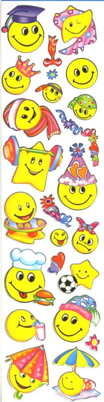 Metallic Sticker Smiley