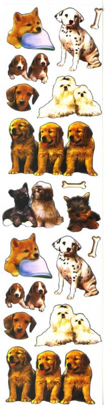 Metallic Sticker Hundewelpen