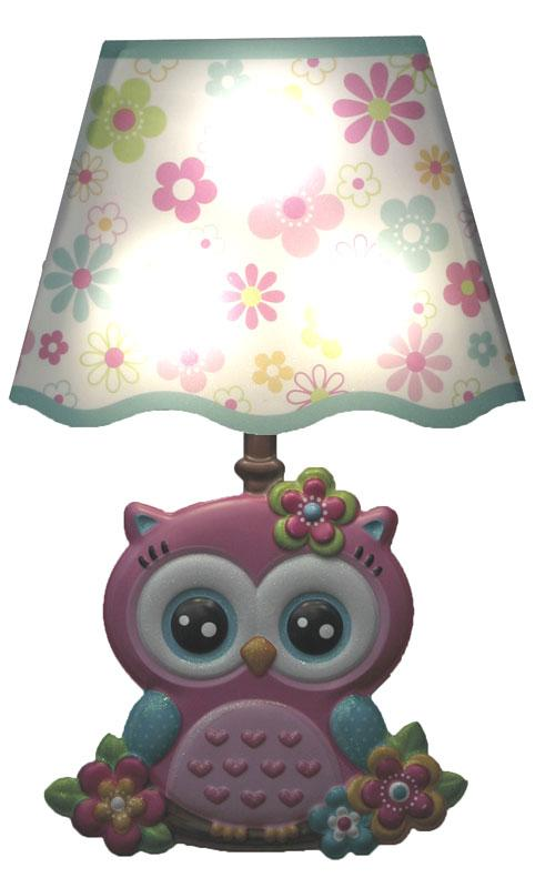 Wall stickers with light owl