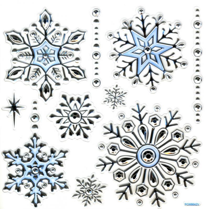 Wand fensterdeko weihnachten schneeflocken gepr gt - Fensterfolie weihnachten ...