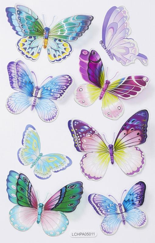 Butterfly Sticker VI clear