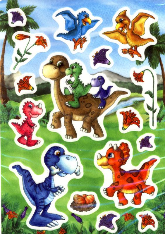 Folie Sticker Dinokinder