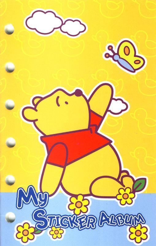 Stickeralbum A6 Winnie Pooh + Sticker