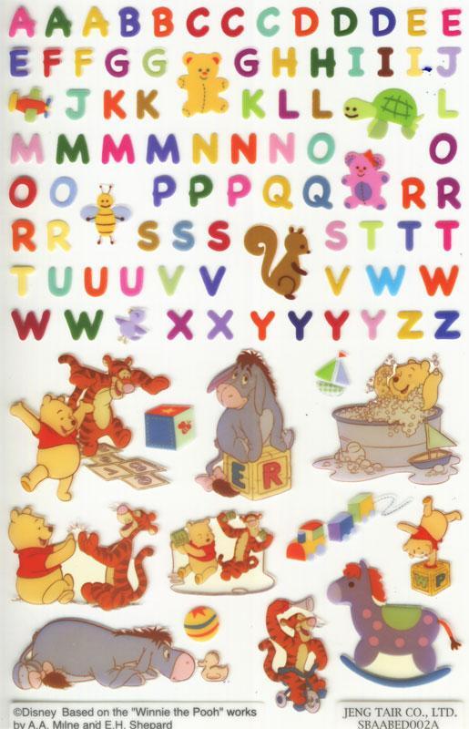 Winnie Pooh Buchstaben Sticker