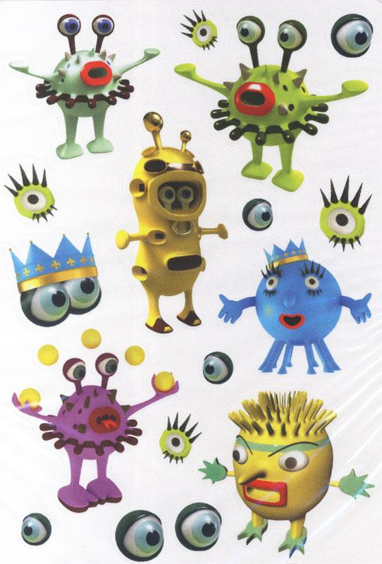 Fun Monster Stickers