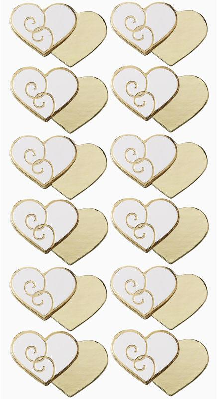 hearts gold stamping