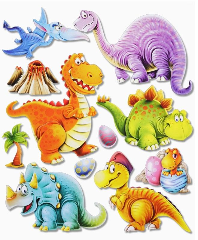 Wandsticker 3D-Optik XXL-Sticker Dinos