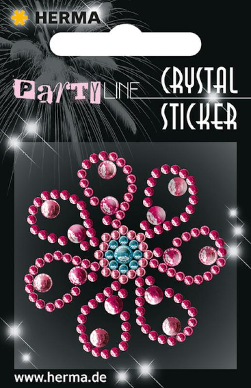 Party Line Crystal Sticker Blume