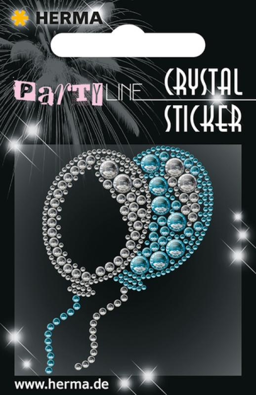 Party Line Crystal Sticker Ballone